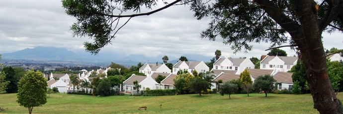 A row of suburban houses