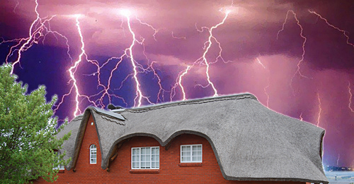 Thatch-house-lightning