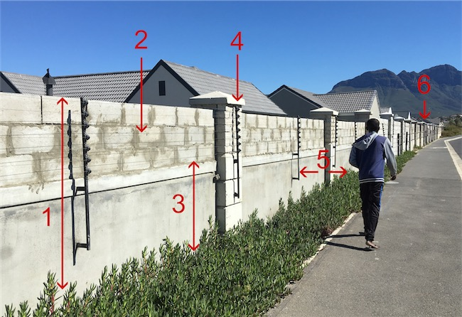 illegal fence install numbered